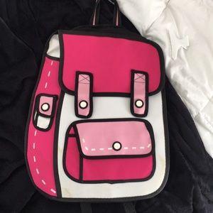 Cartoon pink backpack